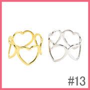 シンプル抜きハート4個のリング(13号)