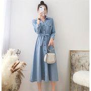NEWタイプ登場暖かい春の準備 韓国ファッション  CHIC気質  大きいサイズ  スリム  シャツドレス