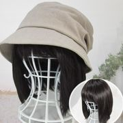 医療用帽子 かんたんウィッグ ボブ 毛付き帽子 T310BR