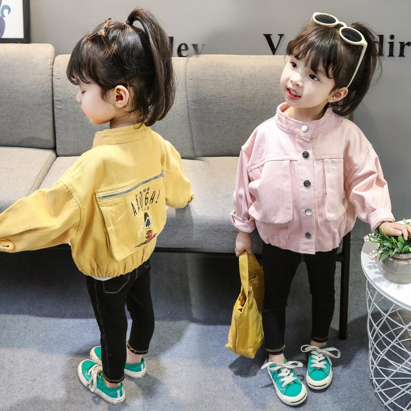 2019 春夏新作 韓国子供服 キッズ 子供服 ベビー服 女の子 赤ちゃん服 デニム 上着