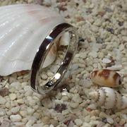 ハワイアンジュエリー コアウッド シルバー リング 幅細 2mm 指輪