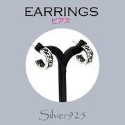 ピアス / 6-90  ◆ Silver925 シルバー  ピアス CZ キュービックジルコニア N-401