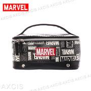 MARVEL 合皮 ランダムロゴ バニティ / マーベル メイクボックス 化粧ポーチ 大きい レディースポーチ