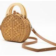 レディースバッグ 肩掛けバッグ 夏 編むバッグ 手提げかご バッグ 手作り 農園風 雑貨