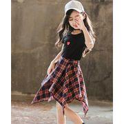 信じられない驚きの大特価 2点セット/流行のキッズ服/女の子ファッション/Tシャツ+スカート/セット