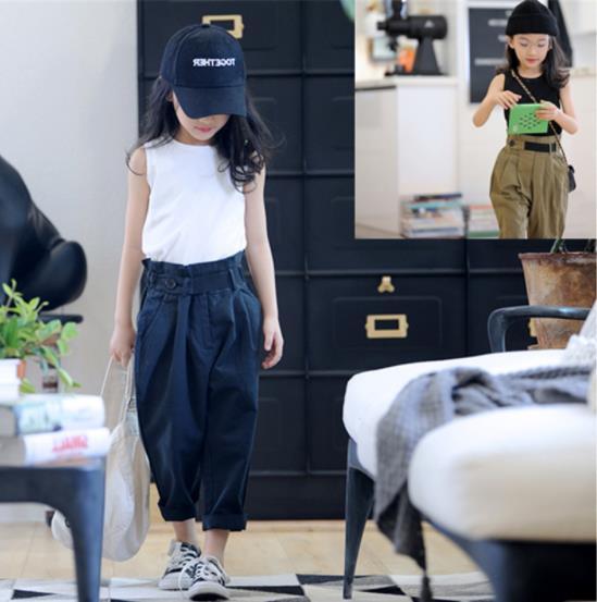 子供服 夏 セットアップ Tシャツ+パンツ 女の子 2点セット カジュアル系