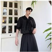 【春夏新作】ファッション/人気ワイシャツ♪ホワイト/ブラック2色展開◆