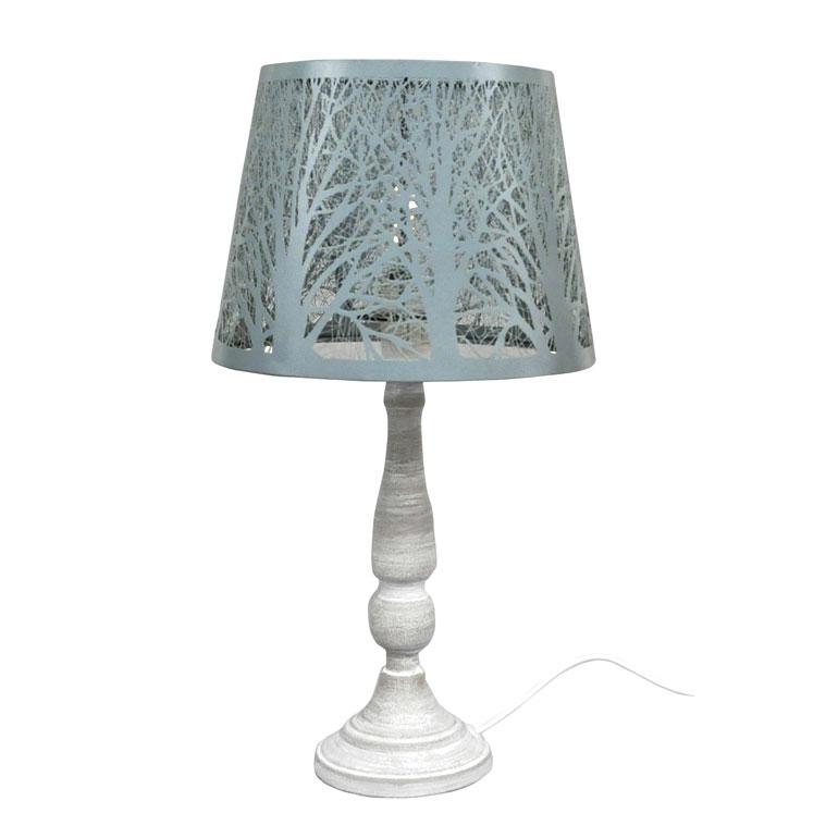 <AMANO>【卓上ランプ】メタルシェードランプ・ツリー・ブルーグレー