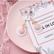 ピアス 円形 貝殻 結び ジルコン デザイン ロングタイプ シェル 韓国 925銀