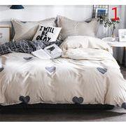 特別にSALEします 2019春夏新作 4点セット ふとんのシーツ シーツ プリント シングルベッド 寝具