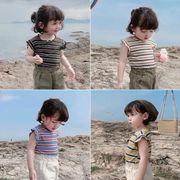 夏★子供服★子供ベスト★ブラウス★トップス★女の子★tシャツ★90-130