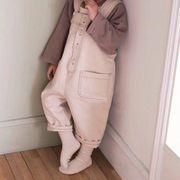 2019秋新作★キッズ用★キッズ男女 カジュアルズボン サロベット★連体服 80cm-130cm