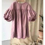 【秋】人気商品★♪ファッション★♪女の子ワンピース★♪カジュアル★♪綿麻★長袖 2色★♪♪♪