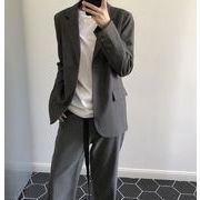 YUNOHAMI テーラードジャケット ユニセックス オフィス カジュアル レディース トップス グレー系 女性