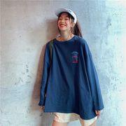 秋冬新しいデザイン731138  大きいサイズ 韓国 レディース ファッション Tシャツ   LL-4L