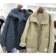 クーポン適用でお得に💓 初秋 機関車 短いスタイル コート 女性 冬 新作 韓国 ゆったりする ラペル