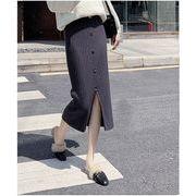 【大きいサイズL-4XL】ファッション/人気スカート♪グレー/ブラック2色展開◆