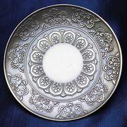 置物 彫り物 お香受け皿 さざれ皿 真鍮製 花曼荼羅 約10cm 風水 インテリア