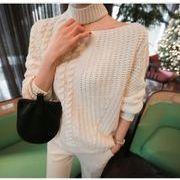 韓国ファッション ニット 肩見せ セーター