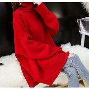 韓国ファッション ハイネック カジュアル セーター