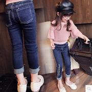 秋と冬 新しいデザイン キッズ洋服 韓国風 女児 プラスベルベットパンツ 何でも似合う