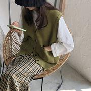 ベスト ニット Vネック セーター 2019秋冬新作 ファッション u15673 レディース 動画あり