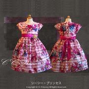ストライプ柄ワンピースドレス