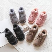 児子供 コットン靴 男児 手厚い プラス ベルベット ウインター 新しいデザイン 韓国風