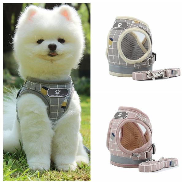 同梱でお買得 小型犬 中型犬 ハーネス リード セット 胴輪 ペット用品 3色