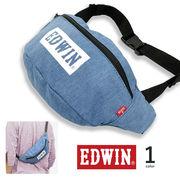 全1色 EDWIN エドウイン ボックスロゴ ライトデニム ウエスト ポーチ
