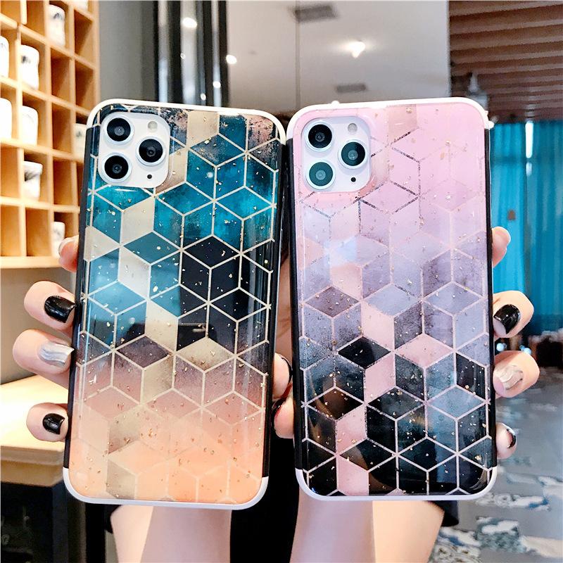 スマホケース 耐衝撃背面カバー 幾何学模様 iPhone ケース