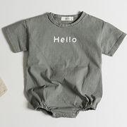 韓国子供服 ベビー ロンパース パーカー カバーオール ジャンプスーツ 通園 男女共用66-100CM