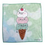 【ハンドタオル】ヨッシースタンプ/プリントハンドタオル/アイスクリーム