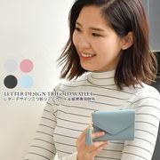 【即納】コンパクトなミニ財布【レターデザイン三つ折りミニカード&紙幣専用財布】