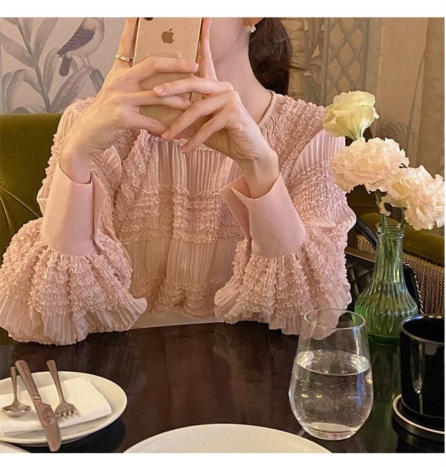 2020年春新作 韓国風 オシャレな ファッション シフォンのシャツ