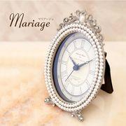 Mariage マリアージュ テーブルクロック(パールオーバル)♪