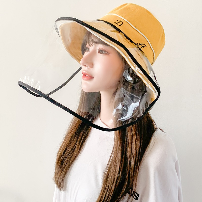 帽子 ファッション ハット フィッシャーマンハット フェイスシールド 透明シールド 防水 飛沫防止