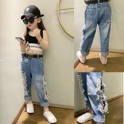 パンツ  ズボン デニム 夏 女の子 大きいサイズ 韓国子供服 2020新作 SALE ファッション