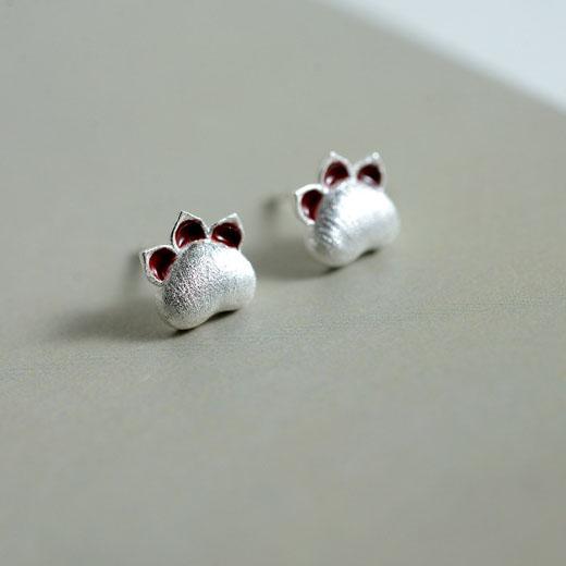 ピアス 猫爪 レディース 可愛い 耳飾り 銀 ギフト