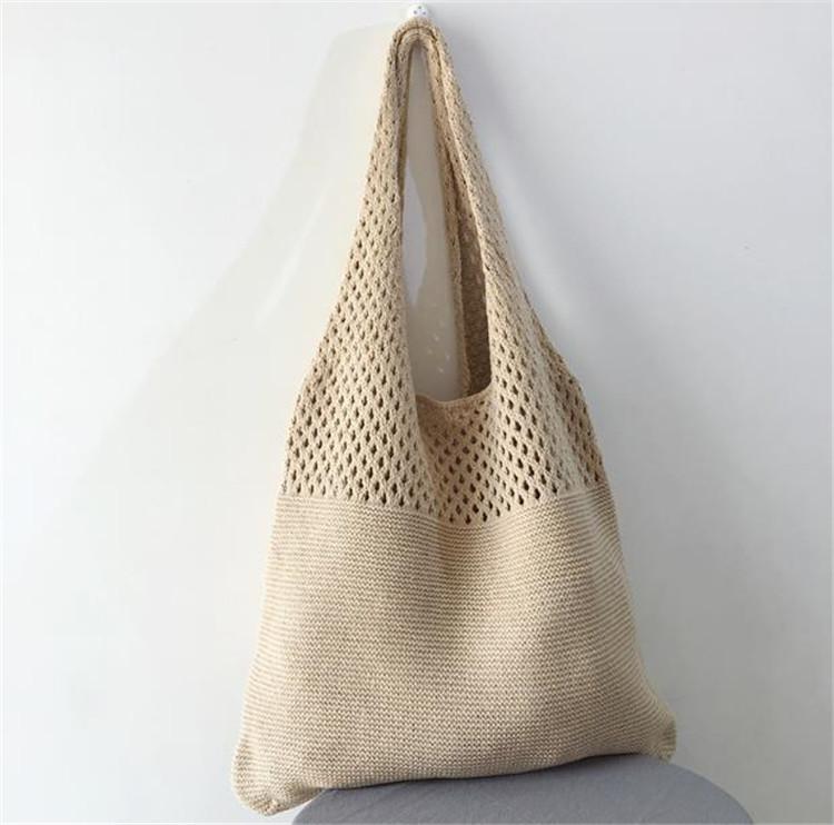 韓国の人気 気質 ショルダーバッグ 文学 ニットバッグ ウールバッグ ショッピングバッグ ベストバッグ