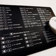 マウスパッド ショトカットキー表 モノクロ MPS-2 【まとめ買い12点】