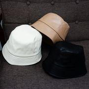 帽子 バケットハット ハット HAT エコレザー フェイクレザー 合皮 無地 メンズ レディース キーズ Keys