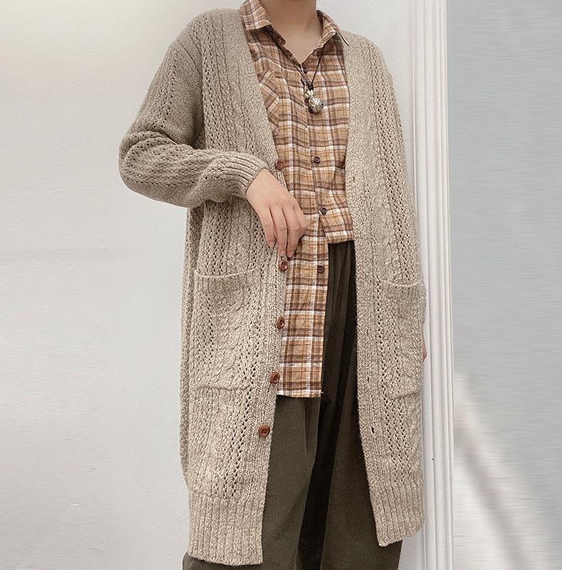 秋冬 レディースファッション Vネック 通勤 アウター 無地 ゆったり ロングタイプ シャツ 韓国ファッション