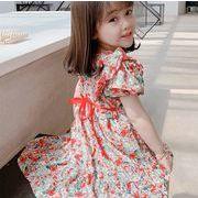 2021新作 子供服 ワンピース キッズ 女の子 春夏 半袖 花柄ワンピース 韓国子ども服 オールインワン