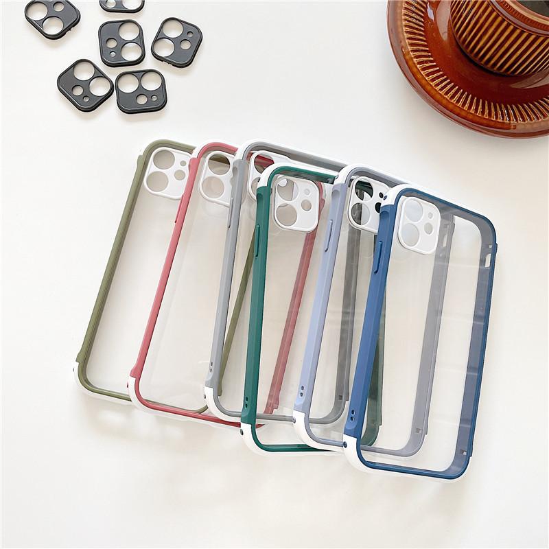 iPhone7~iPhone12Promaxケース クリア カメラレンズ保護カバー スマホ バンパーケース