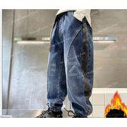 秋冬制作  男の子ズボン 下着   可愛いパンツ 子供服 キッズ服 ジーンズ   裏毛付き