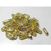 2穴ロンデル ゴールド 約10×5mm 【50個セット販売】