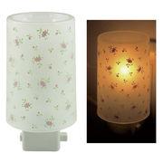 Plastic Aroma Concent Lamp PP アロマコンセントランプ リトルフラワー:ピンク◆室内照明