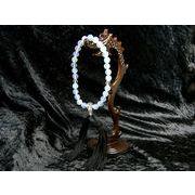 男女兼用念珠 オパール(人工)と水晶の数珠