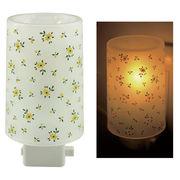 Plastic Aroma Concent Lamp PP アロマコンセントランプ リトルフラワー:イエロー◆室内照明